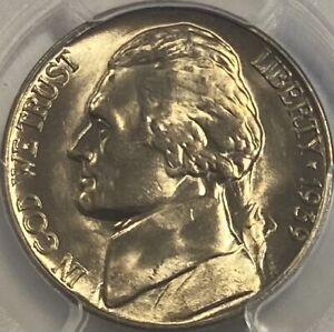 1939-D Reverse of 1940 5c Jefferson Nickel PCGS MS66 Lustrous Gem!
