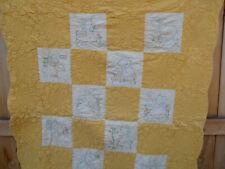 "Golden Sunflowers Embroidered Sun Bonnet Sue Girls Quilt Lap Baby Crib 44"" X 60"""