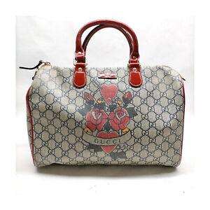 Gucci Hand Bag  Navy Blue PVC 1418841