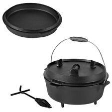 Dutch Oven Gusseisen Bratpfanne Deckelheber BBQ Kessel Feuerkessel Camping Set