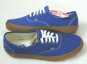 Vans Men's Authentic Gum Spectrum Blue True White Canvas shoes Size 10.5 NWT
