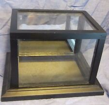 wooden frame display box with pexy glass and mirror back