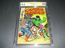 Captain America #110 CGC 9.2 SS Signed by Jim Steranko 1969! Marvel not CBCS