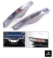 Per VW Passat B6 3C 2006-2010 Anteriore Trasparente Frecce Fari Paio Destro + SX