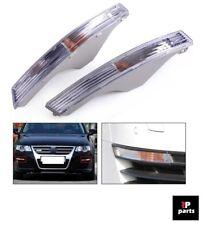 NEW VW PASSAT B6 3C CLEAR FRONT INDICATORS LIGHTS LAMP PAIR RIGHT+LEFT 2006-2010