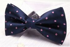 Bow Tie Navy Pink Polka Dot Bow Tie Wedding Bow Ties Groomsmen Bow Ties Gifts