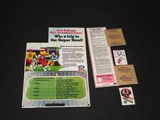 Cereal Premium Kellogg's FOOTBALL TOUCHDOWN GAME PCS & HELMET DECALS COLTS SKINS