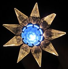 Working 1930s C6 Matchless Wonder Star Christmas Light~Single Row~Crystal/Blue