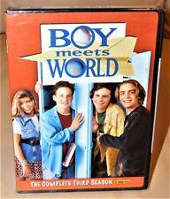 Boy Meets World - Season 3 - DVD 3 DISC SET. - COLOR - 2005