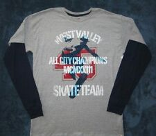 Hanes Boys Gray Layered Look West Valley Skate Team Shirt Size XXL 18 NWT