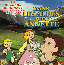 TV OST DANS LES ALPES AVEC ANNETTE / INSTRUMENTAL FRENCH 45 SINGLE