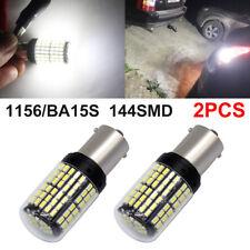 2x 1156 BA15S 3014 LED 144SMD DRL Canbus Car Light Bulb White 6000K No Error 12V