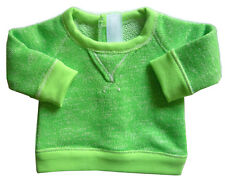 "Lime Green Slouchy Sweatshirt Top for 18"" American Girl Boy Doll Clothes Logan"
