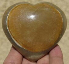 67mm 5.9OZ Natural Banded Onyx Calcite Crystal Carving Art Heart