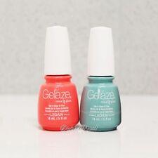 Gelaze Geláze China Glaze LED UV Nail Gel Polish SET OF 2 Colors 15 mL/ 0.5 oz