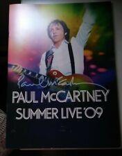 Paul Mccartney Summer Live 2009 Concert Tour Program Beatles