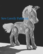 Vintage Horse Pony Toy Doll Pattern 1940's Easy to Sew Toys Stuffed Animal