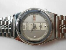 JAPAN MADE MID SIZE 33mm VINTAGE SS CITIZEN AUTOMATIC DAY DATE MENS WRISTWATCH