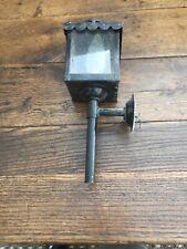 ANCIENNE APPLIQUE FER FORGE  Lanterne De Fiacre Sans Doute
