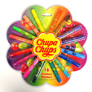 Chupa Chups Fruit Scented Colouring Markers - Pack of 16