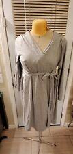Bump In The Night Nursing Gown Robe Maternity grey/gray Hospital SZ 1X