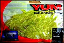 """YUM WALLEYE GRUB 3"""" (7,5 cm) CHARTREUSE SILVER color - packet of 25 pcs!!"""