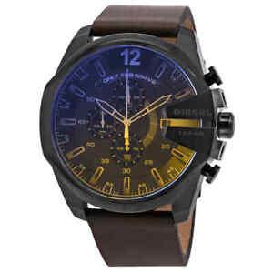 Diesel Exclusive Mega Chief Chronograph Quartz Blue Dial Men's Watch DZ4401