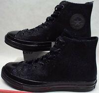New Mens 10 Converse CTAS 70 Hi Triple Black Leather Shoes $150 156701C