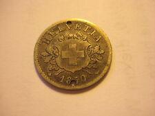 Schweiz / Helvetia - Silber Münze 10 Rappen von 1850, ansehen !