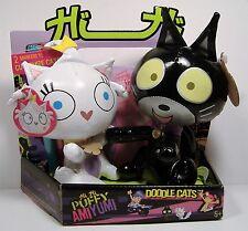 HI HI PUFFY AMI YUMI DOODLE CATS FIGURE SET JANG KENG & TEKIRAI MATTEL 2005 RARE