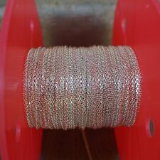 925 Sterling Silver,3.3ft,1.2mm Diamond Cut Square Cable Unfinished Bulk Chain