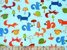 Robert Kaufman Animal Party Too Woodland Animals Summer Fabric