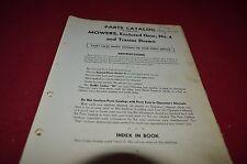 John Deere No. 4 Enclosed Gear Mower Dealer's Parts Book Manual DCPA3