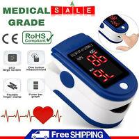 Fingertip Pulse Oximeter - Oxygen Saturation Meter SPO2 Finger PR Blood Monitor
