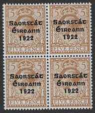Ireland 1922-23 5d Sc51; SG59 Yellow/Brown UNMOUNTED Mint OG