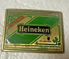 Heineken Beer Baron Brass Vintage Belt Buckle