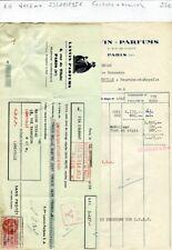 Paris VIII ème 3 Rue de Tilsitt - Facture + Traite - Célèbre Lanvin Parfums 1956