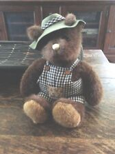 Bear Tales By Gund 15� Teddy Bear Little Hat & Overalls & Clean