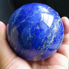 Natural Safe Blue Lapis Lazuli Crystal Ball Healing Sphere 40mm + Stand 100G