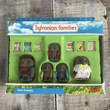 Sylvanian Families Treefellow Owl Family Figure Set RARE Complete Mint in Box
