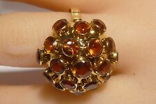 Bombe 18k Orange Topaz Dome Ring Handcrafted Vintage Gold Elegant C/W appraisal