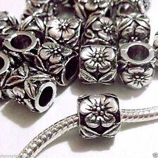 20 pc Lot EUROPEAN CHARM flower BEADS for bracelet P13 Ships from USA