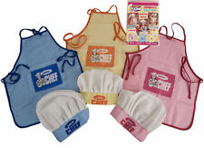 KIDS CHILDRENS JUNIOR CHEF OUTFIT SET COOKING BAKING APRON AND CHEF HAT