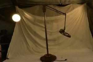 VTG Mid-Century Dazor M-1410 Floating Fixture Industrial Magnifying Floor Lamp