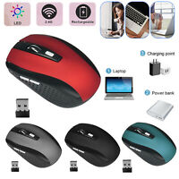 2.4GHz Wireless 2000DPI Cordless Optical Mouse Mice USB Receiver for PC Laptop N
