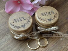 Wedding Ring Boxes Set. Wedding Ring Pillow. Wooden Ring Bearer Personalized