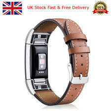 Fitbit Charge 2 Band Leather Strap Adjustable Replacement Wristband