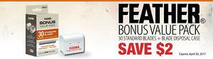 Jatai FEATHER Bonus Value Pack 30 pk Standard Blades w/ free Blade Disposal Case