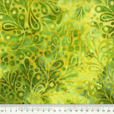 Batik Stoff Wild Waves Ornamente lime 0,25 m Patchwork Baumwolle