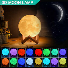 3D Lunar Moon Lamp Moonlight LED Night Light Touch Pad Remote Dimmable 18cm 20cm